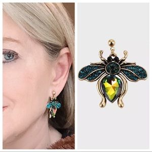 Fun winged insect earrings